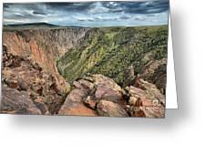 Walls Of The Black Canyon Greeting Card