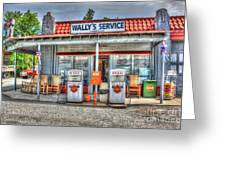 Wally's Service Station Greeting Card by Dan Stone