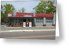 Wallys Service Station Mayberry Greeting Card by Bob Pardue