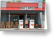 Wally's Service Station Mayberry Nc Greeting Card by Bob Pardue
