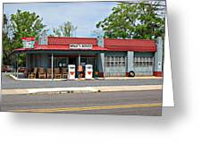 Wallys Service Station Mt. Airy Nc Greeting Card by Bob Pardue