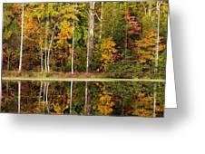 Walnut Creek Lake Autumn Reflection Greeting Card