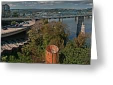 Walnut Street Bridge Chattanooga Greeting Card
