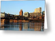 Walnut Street Bridge Harrisburg Pennsylvania Greeting Card