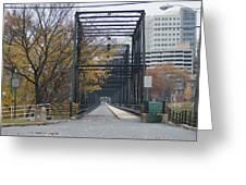 Walnut Street Bridge Looking At Harrisburg Greeting Card