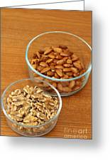 Walnuts And Almonds Greeting Card