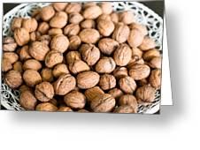 Walnuts In A Basket Greeting Card