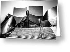 Walt Disney Concert Hall In Black And White Greeting Card