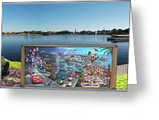 Walt Disney World Cars 2 Digital Art Composite 02 Greeting Card
