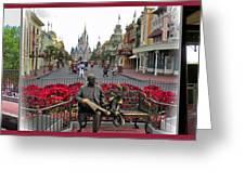 Walt Disney World Transportation 3 Panel Composite 02 Greeting Card