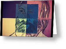 Walt Whitman In Color Greeting Card by Nickolas Kossup