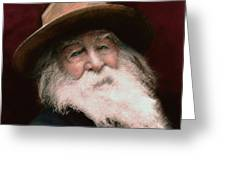 Walt Whitman Greeting Card