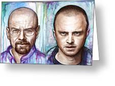 Walter And Jesse - Breaking Bad Greeting Card by Olga Shvartsur