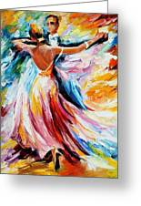 Waltz - Palette Knife Oil Painting On Canvas By Leonid Afremov Greeting Card