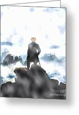 Wanderer Above The Sea Of Fog Greeting Card