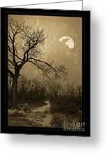 Waning Winter Moon Greeting Card