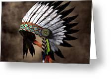 War Bonnet Greeting Card by Daniel Eskridge