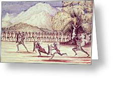 War Dance, Illustration From The Albert Nyanza Great Basin Of The Nile By Sir Samuel Baker, 1866 Wc Greeting Card