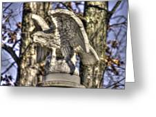 War Eagles - Vermont Company F 1st U. S. Sharpshooters-a1 Pitzer Woods Gettysburg Greeting Card by Michael Mazaika
