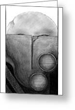 War Mask_009 Greeting Card
