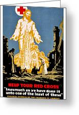 War Poster - Ww1 - Christians Support Red Cross Greeting Card