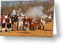 War - Revolutionary War - The Musket Drill Greeting Card by Mike Savad