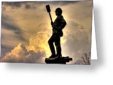 War Thunder - The Clouds Of War - 4th New York Independent Battery Near Devils Den Gettysburg Greeting Card