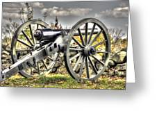 War Thunder - The Letcher Artillery Brander's Battery West Confederate Ave Gettysburg Greeting Card