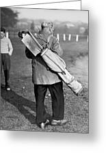 War Time On The Golf Course Greeting Card