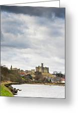 Warkworth Castle Above River Coquet Greeting Card
