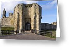Warkworth Castle Gate House Greeting Card