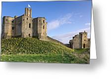 Warkworth Castle In Spring Greeting Card