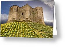 Warkworth Castle In The Sky Greeting Card