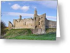 Warkworth Castle Panorama Greeting Card