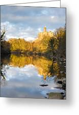 Warkworth Castle Reflected Greeting Card