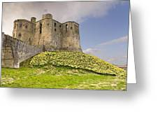 Warkworth Castle With  Daffodils Greeting Card