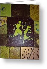 Warli Dance Greeting Card