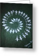 Warli On Handmade Paper Greeting Card