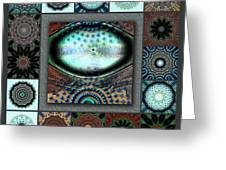 Warm Cosmos Redux Greeting Card