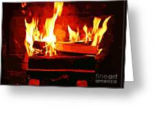 Warm Dancing Flames Greeting Card