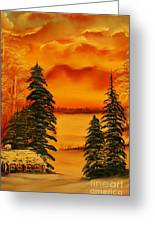Warm Snow-original Sold- Buy Giclee Print Nr 34 Of Limited Edition Of 40 Prints  Greeting Card