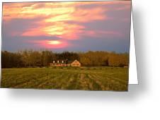 Warm Spring Sunset Greeting Card