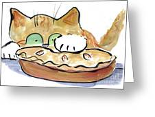 Warm Thanksgiving Day Pie Greeting Card