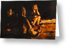 Warmth Of The Campfire Greeting Card