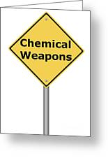 Warning Sign Chemical Weapons Greeting Card