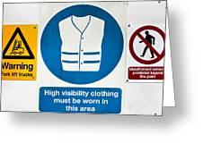 Warning Signs Greeting Card