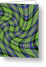 Warped Scott Ancient Green Tartan Greeting Card