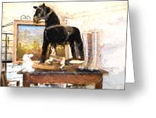 Warrenton Antique Market Toy Horse Greeting Card