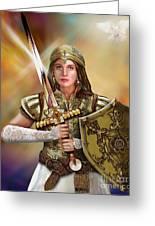 Warrior Bride Of Christ Greeting Card