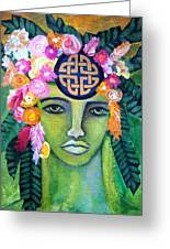 Warrior Goddess Greeting Card by Tracie Hanson